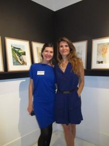 Alice Rivières et Alexandra Compain-Tissier à l'exposition Anouck, Artligue, 10 oct. 2013.