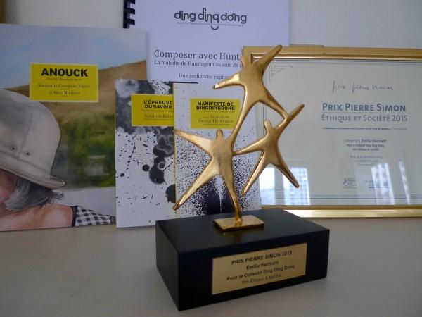 Ddd a reçu le prix Ethique et Société de la Fondation Pierre Simon le 14 décembre 2015.