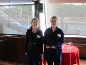 Valérie Pihet, présidente de Ddd et Claire Lalot, directrice de la Fondation Adrea, juin 2015.